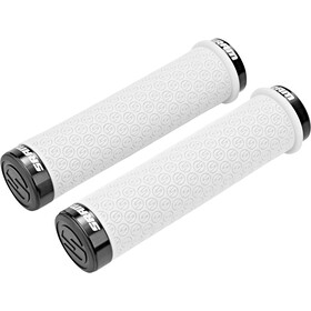 SRAM DH silicone grips with loctite white